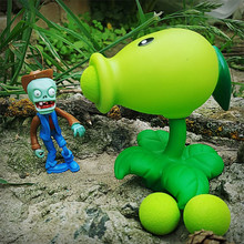 2~4 PVZ sets of combination Plants vs Zombies figures toys vivid pea sunflower toy Peashooter PVC Gifts Toys цена