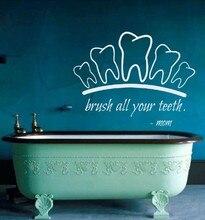 Teeth Dentist Vinyl Wall Decal Muurstickers Poster Art Wall Decals Pegatina Quadro Parede Decor Mural Teeth Sticker