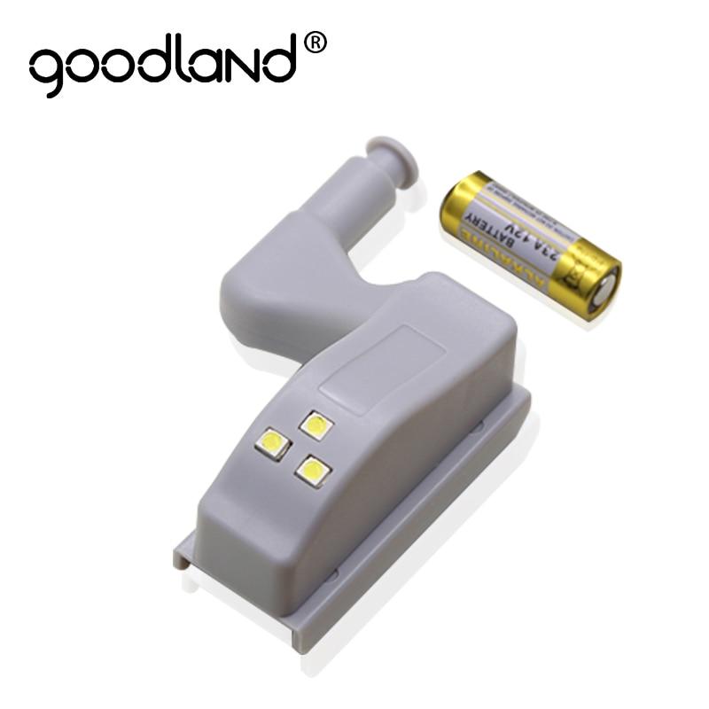 Goodland LED dolap altı ışığı Evrensel gardırop ışığı Sensörü Led Armario Pil Ile Gece Lambası Mutfak Dolap Dolap
