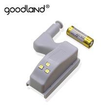 Goodland światła podszawkowe Led uniwersalne oświetlenie w szafie Led Armario z baterią lampka nocna do szafki kuchennej
