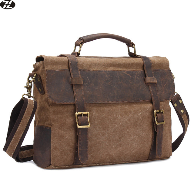 vintage high quality canvas men briefcase business men messenger bags brand men shoulder bag casual men crossbody bags handbags