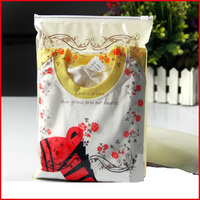 50pcs/lot 20cm*28cm*140Micron Rose Clothes Zipper Packaging Bags