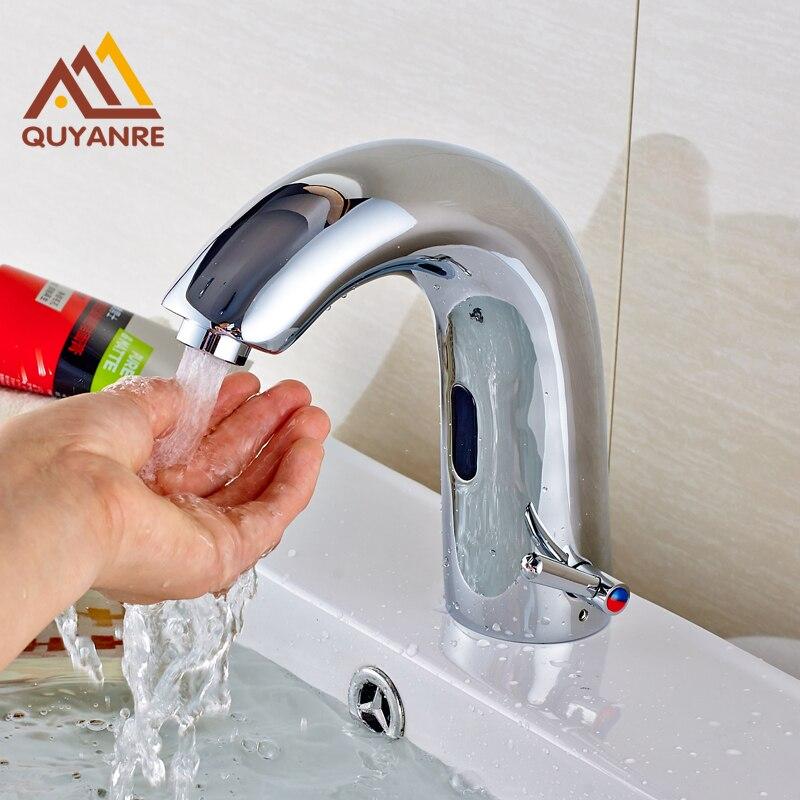 Chrome Polish Basin Sense Faucets Water Saving Sink One Hole Hot And Cold Water Taps sense and sensibility
