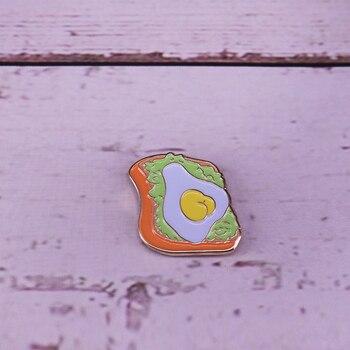 Aguacate tostado esmalte pin divertido vegano foodie accesorio