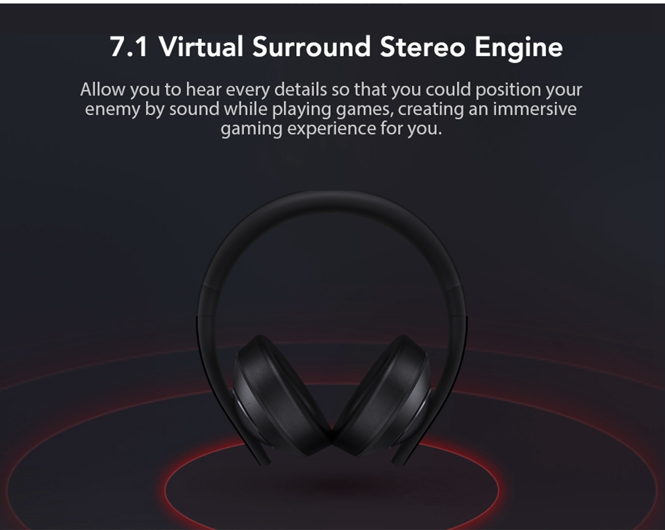 Xiaomi Gaming Headset 7.1 Surround Sound Grephene LED Headphone With Double Mic Noise Reduction Heavy Bass Stereo for PC (2)