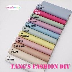 11pcs-High جودة جديد DIY لون الحلوى تنقش بو الجلود/الجلود الاصطناعية 20x22 سنتيمتر لكل pcs (يمكن اختيار اللون)