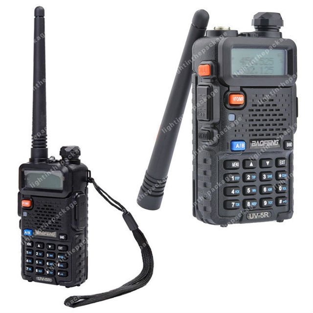 BAOFENG UV-5R VHF/UHF Dual Band 136-174/400-520MHz FM Ham Two Way Radio B0476