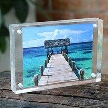 1 SET Acrylic Transparent Rectangle Magnet Photo Frame Europe Simple Fashion Picture