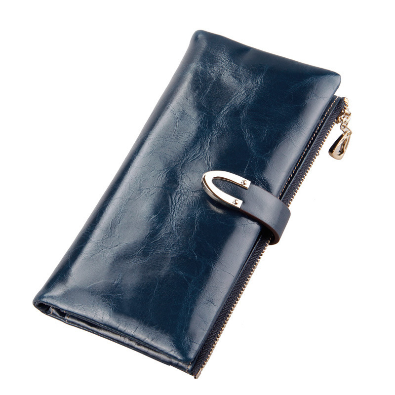 цены  2016 Genuine Leather Long Women Wallets Ladies Brand Zippers Hasp Buttons Wallet Multi-Card Holder Cowhide Female Clutch Purses