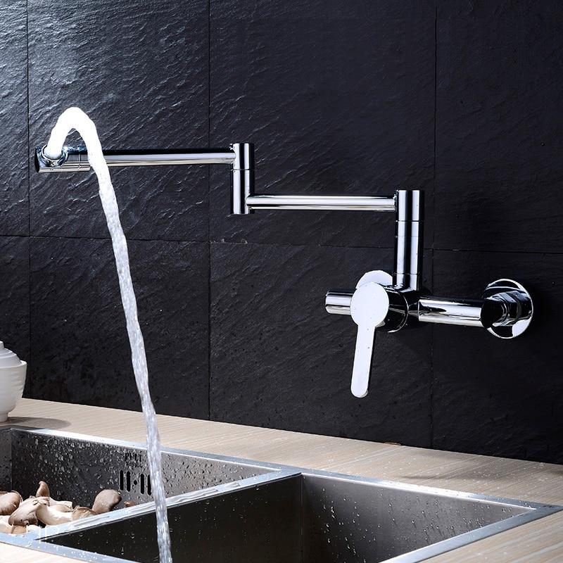 Aliexpress.com : Buy Full Copper Brass wall mounted rotating folding ...