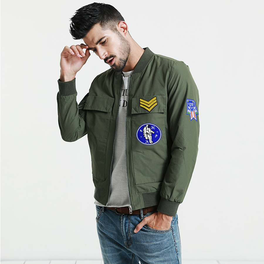 US $3.22 26% OFF|10 PCS Badge Stripe Sew Embroidery Patch for Men Clothes Jacket Applique Iron on Transfer Military Craft Cool Patches for