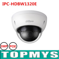 New English Version Dahua 3MP 1080P POE IP Camera IPC HDBW1320E IRC Camera 3MP HD Network