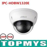 New English Version Dahua 3MP 1080P POE IP Camera IPC HDBW1320E IRC Camera 3MP HD Network