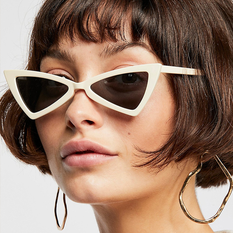 e193c2fb7b2f7 Elegante Olho de Gato Mulheres Óculos De Sol Marca de Moda de Luxo Designer  Triângulo Feminino