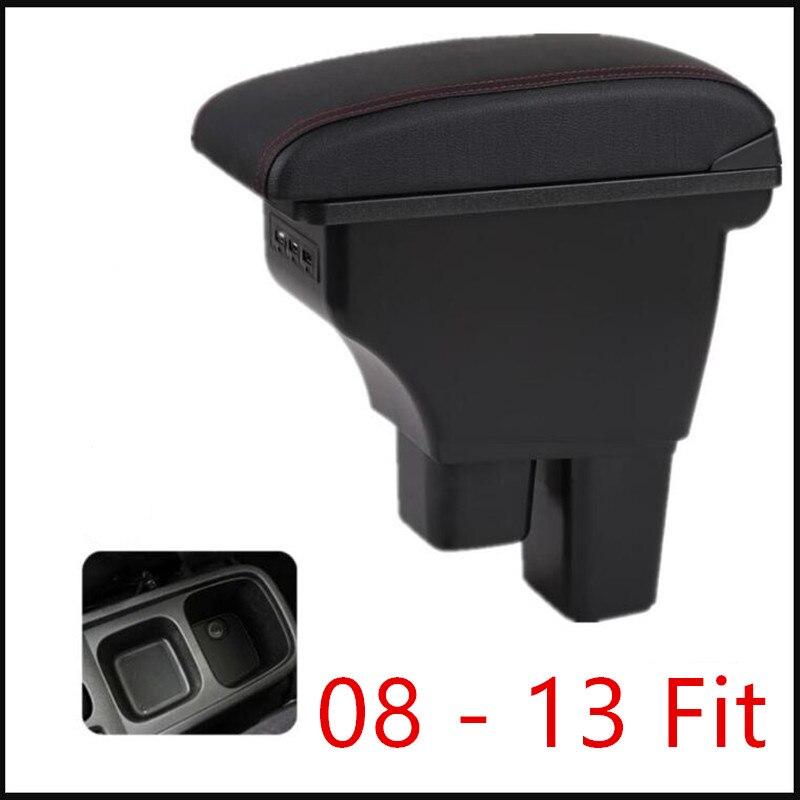 Console centrale boîte de rangement accoudoir pour Honda Fit Jazz 2008-2013 repose-bras rotatif 2009 2010 2011 2012