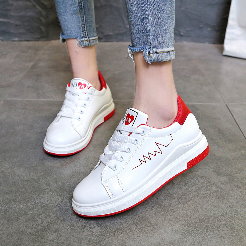 Women Casual Shoes Fashion Women Sneakers Women Flats White Shoes Summer Ladies Shoes 2018 New Wild Leisure Lace-up Female Shoes capacitive proximity switch e2k x8me1 brand new