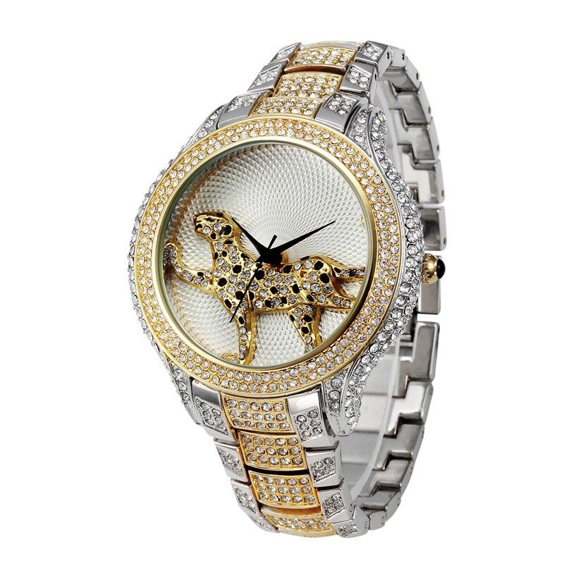 db7adbc94b36 Miss Fox diamante lleno mejor reloj para mujer marcas moda Carter cuarzo  reloj de oro mujeres resistente al agua salvaje señoras Relojes en Relojes  de mujer ...