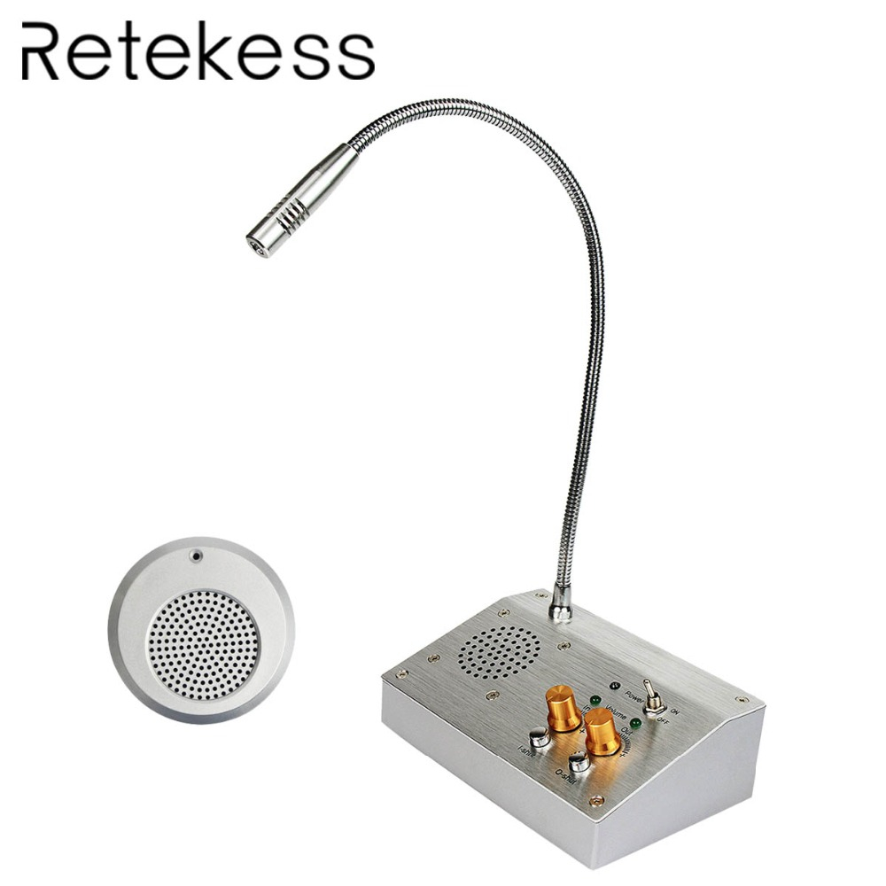 RETEKESS 2W Dual Way Window Counter Intercom System For Bank Office Store Station Dining Hall  Counter intercom Voice System