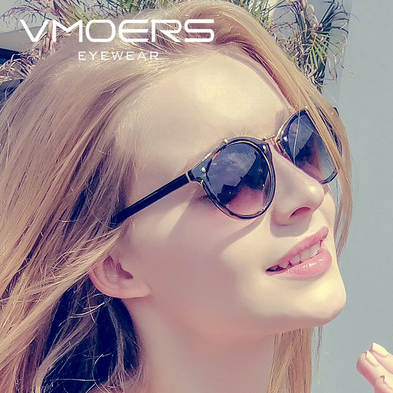 Vmoers Female Vintage Round Sunglasses Women Fashion 2019 Shades Oculos Ladies Brand Retro Sun Glasses For Women Gradient Lens