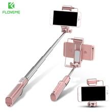 Floveme Bluetooth палка для селфи с зеркало заднего светодиодный заполнить свет Выдвижная Нержавеющая сталь удаленного телефона ручной Беспроводной монопод