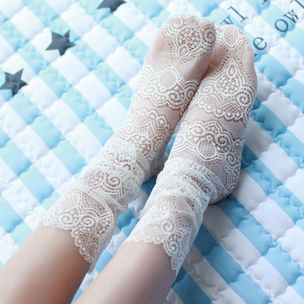 OLN KCT EU36 46 Pricness fashion Lace Floral Hollow Ventilation Fishnet Short Slim Sock Summer New Sock(5 pairs / lot )