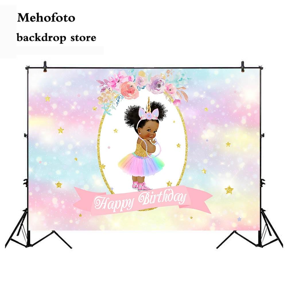 Mehofoto Happy Birthday Photography Backdrops Rainbow