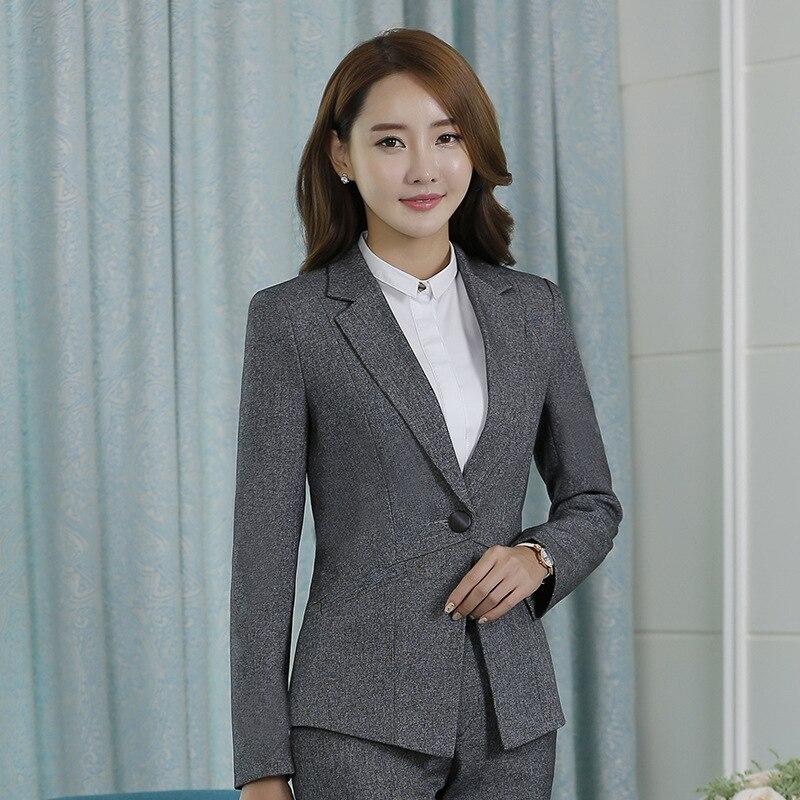 Autumn Winter OL Business Pants Suit Ladies' Suits Office Lady Work Pants Suit