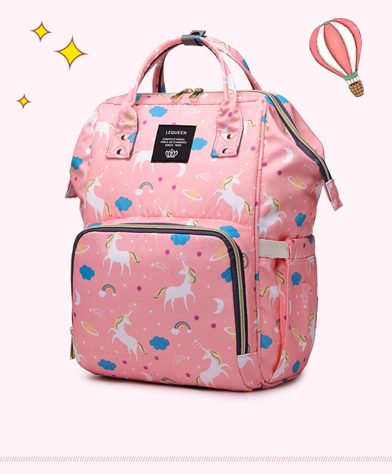 HTB1ue6dKh1YBuNjy1zcq6zNcXXaz Lequeen Fashion Mummy Maternity Nappy Bag Large Capacity Nappy Bag Travel Backpack Nursing Bag for Baby Care Women's Fashion Bag