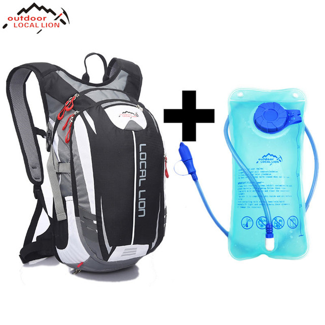 LOCAL LION Climbing Backpack +2 L Water Bag MTB18L Cycling Backpack Breathable Outdoor Cycling Backpack Hiking Bicycle Backpacks