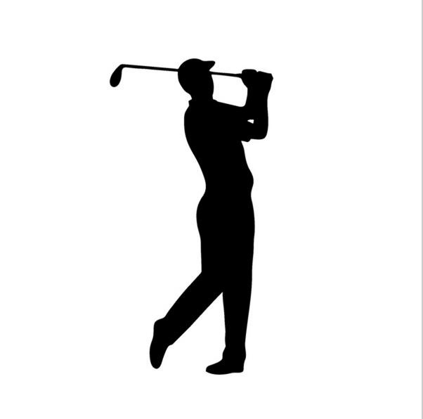 Golf Player Decal Vinyl Sticker For  Window  Laptop 17x9cm