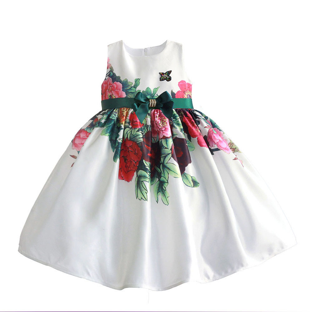 Flower Girl Dresses Summer Baby Girls Party Dress Children Wedding Dress Brand Princess Costumes for Kids Clothes Vestidos 3-9T baby girls princess dress summer style floral kids clothes with bow belt flower girl wedding dresses for party children costume