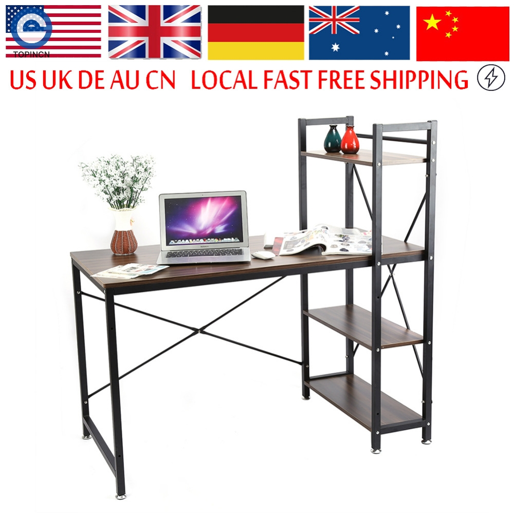 Multifuction Computer Table Storage Shelving Book Shelf Steel Frame  Notebook Desk For Home Office Workstation. Workstation Office Furniture Reviews   Online Shopping Workstation