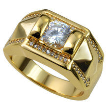 ФОТО 18k Gold Filled CZ Wedding Engagement mens Ring Band size 9 10 11 12 13 14 15 R245