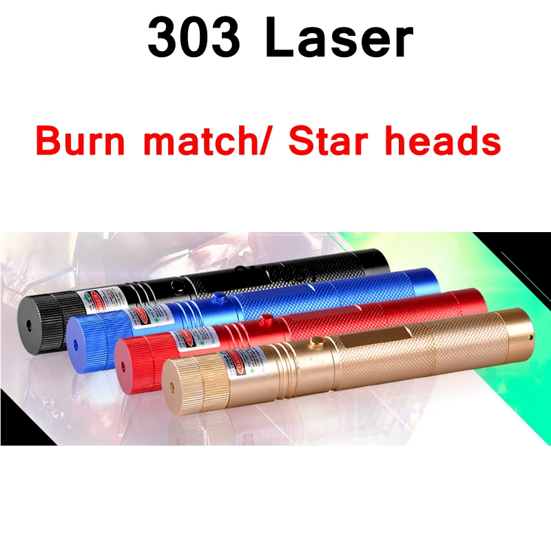 ReadStar 303 Green laser only high Laser pointer laser pen burn match star cap 4 colors laser only without battery & charger