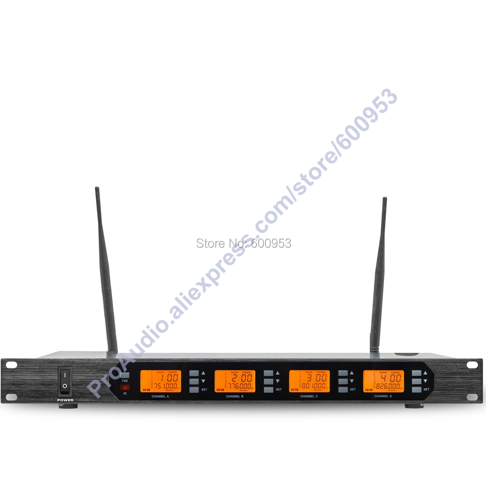 MICWL Audio M400 4B UHF 4x100 Channel Digital Wireless 4 Pocket Microphone System with 4 Clip On Lavalier Lapel Mic in Microphones from Consumer Electronics