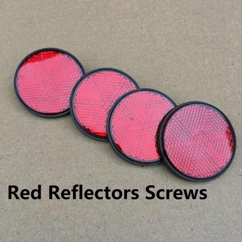 Pack of 4 Screws Round Red Reflectors Camper Trailer Motorcycle RV caravan Auto Trucks Side Mark Rear/Tail/Signal Accessories