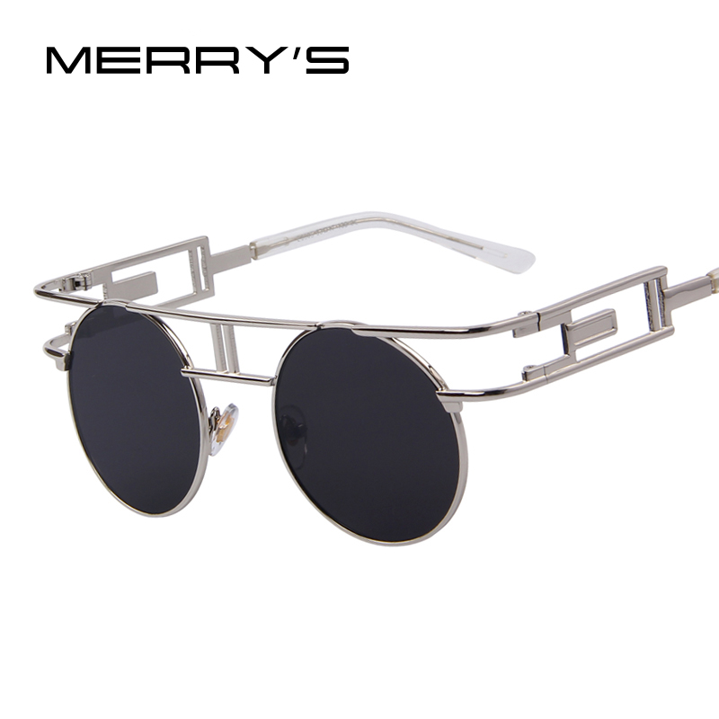 MERRYS Fashion Women Brand Designer Unique Gothic Sunglasses Metal Frame Steampunk Men Sunglasses Oculos de sol UV400