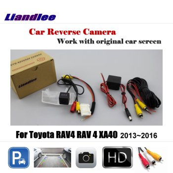 Liandlee Car Reverse Rearview Camera For Toyota RAV4 RAV 4 XA40 2013~2016 Original Screen / HD CCD Backup Parking Camera image