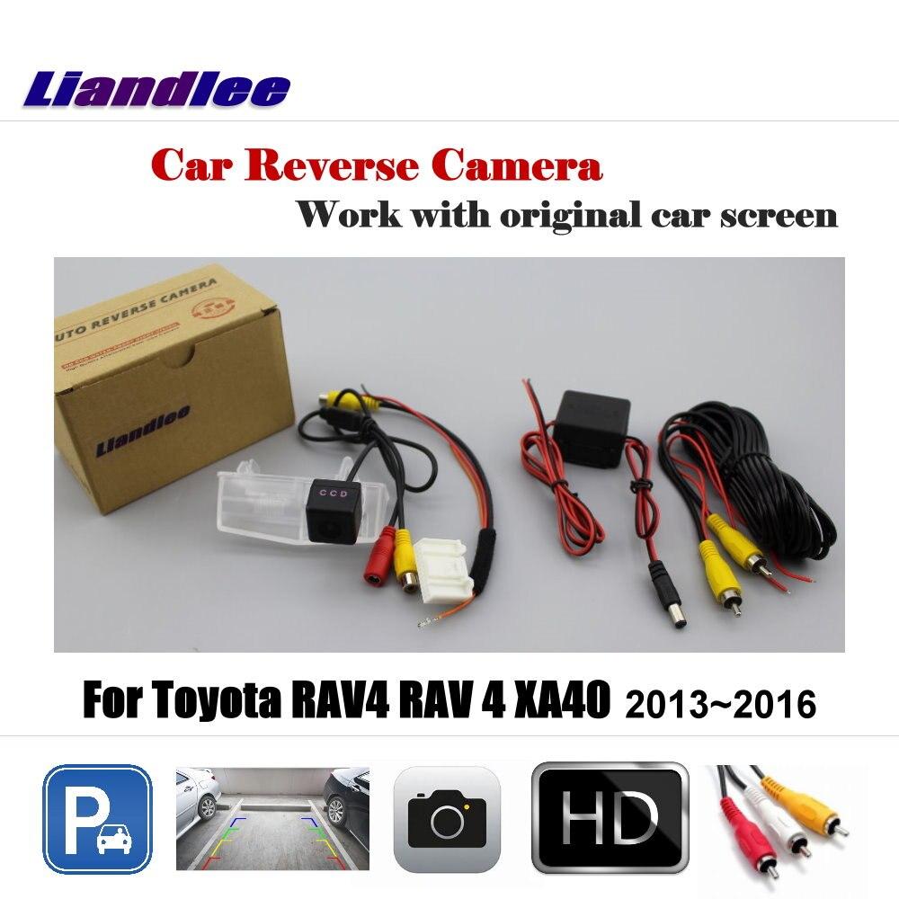 Liandlee voiture caméra de recul pour Toyota RAV4 RAV 4 XA40 2013 ~ 2016 écran d'origine/HD CCD caméra de stationnement de secours