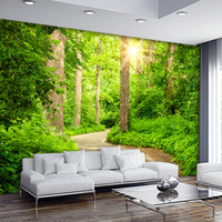 Free Shipping 3d Stereo Tree Path Landscape Wallpapers Living Room Sofa TV Background Mural Modern Bedroom