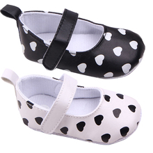 Baby Girl Princess Mary Janes Crib Shoes Toddler Kids Heart Printed Shoes 0-12 M