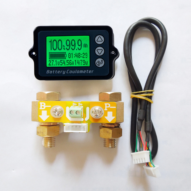 DC8 80V 50A 100A 350A TK15 جهاز اختبار بطارية Coulomb عداد coulmeter قدرة مؤشر LiFePo كاشف coulmeter