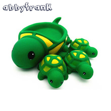 Abbyfrank 4pcs Baby Bath Toys Cute Toy Rubber Race Squeaky Animal Set Bathing Classic Water 0-12 Months Rabbit Delphinidae Duck