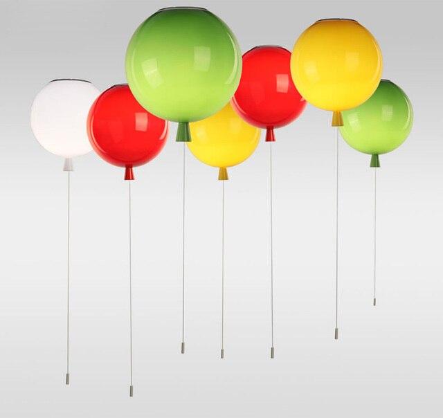 Colorful Balloon Acrylic Ceiling Lights, 6 colors E27 Luminarias Plafonnier Lamparas de Techo for Children's Room Cozy Lamp