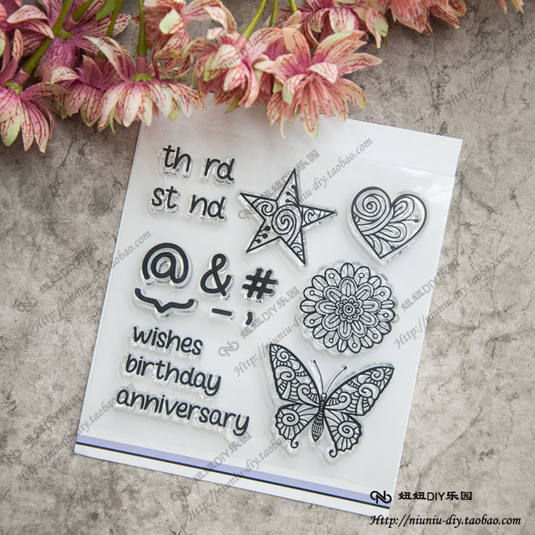 Clear Stamps Butterfly Love heart flower lace Scrapbook DIY Photo Album Account Transparent Silicone Rubber cartoon seal scrapbook diy photo album account transparent silicone rubber clear stamps 20x28 5cm big size wedding