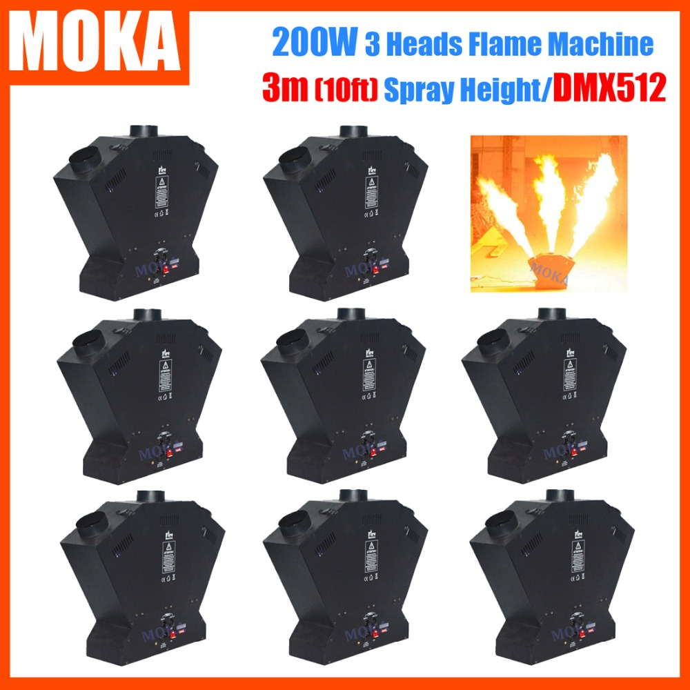 8pcs/lot Stage Effect Fire Machine Flame Thrower DMX512 Fire Projector Flame Machine Spray Fire Machine 2pcs lot fire machine flame machine 3m height special effect fire spray machine dmx 512 fire thrower
