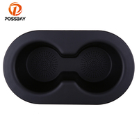 POSSBAY Car Auto Cup Holder Vehicle Seat Cup Cell Phone Pocket for Dodge Ram 1500 2500 3500 2002 2016 Interior Organizer Black