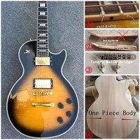 Nouvelle norme LP 1959 R9 paul guitare électrique, Érable Flammé, frettes crème reliure, un morceau de cou et corps, Tune-o-matic pont!