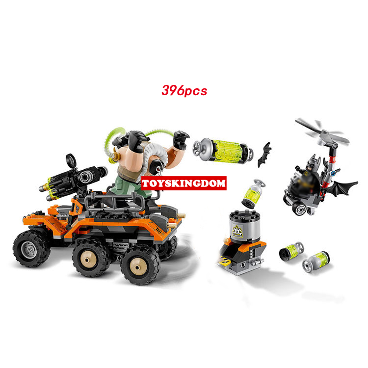 Hot DC comics super heroes batman Bane toxic truck attack building block figures heilicopter bricks 70914 toys for boys gifts loz dc comics super heroes mini diamond building block batman