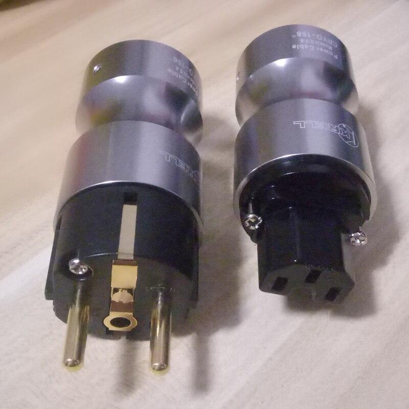 Paire haut de gamme Krell CRYO 156 plaqué or EU Schuko prise de courant connecteur femelle IEC pour hifi audio cordon d'alimentation ca-in Prise électrique from Electronique    1